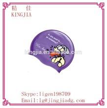 Adult Cartoon Silicone Swim Cap,funny swimming cap,printing silicone swim cap