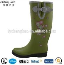 (CH.W112) Rubber boots factory Summer dress Flower rain boots lady