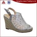 Venta de la fábrica nupcial del alto talón ladies fancy sandal
