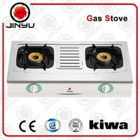 table type 2 burners gas stove with stainless steel cooktop JY-625