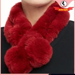 2014-2015 lady fashion rabbit fur neck warmer ball fur scarf