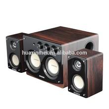 Wooden multimedia speaker, 2.1 subwoofer computer speaker