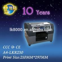 A4-LK1980 Phone Cover/Case UV Flatbed Printer, Large Format UV Printer , UV Led Printing Machine with DX5 Printhead