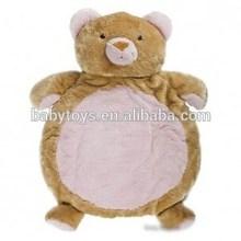 wholesale animal plush mat bear shape plush mat bear baby play mat