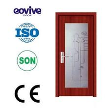 New design glass wooden door/wood door/glass door