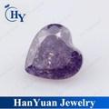 A forma di cuore 6*6mm ghiaccio viola fiore di pietra ingrosso