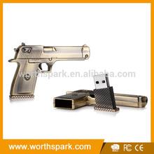 gun shaped metal marvel usb
