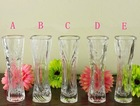 European style transparent glass vases