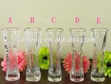 European style transparent glass vases
