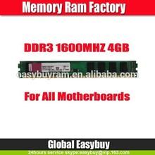 Factory desktop ddr 3 ram 4gb accept paypal/Escrow payment