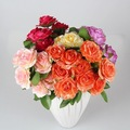 Yiwu aimee suprimentos 9 chefes rosa do deserto plantas, barato vermelho rosa artificial flor( sou- jx08)