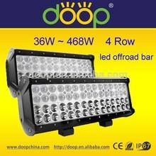 36W 72W 108W 180W 144W 180W 252W 468W 4 row led light bar high power off road light bar