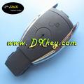 Alta qualidade botões 2 carro inteligente keyless para mercedes-benz-chave caso chave inteligente sem logotipo