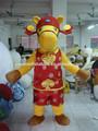 Cavallo mascotte- Animale personaggio mascotte, avdertising costumi su misura, mascotte per la promozione