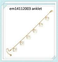 2015 fashion sexy slave anklet chain locking anklet- - - - - -custom anklet