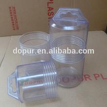 PVC rectangular transparent screw plastic tube
