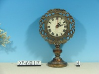 XF690 series home decorations top quality handmade antique standing desk clock