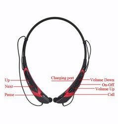 stereo sound bluetooth 4.0 wireless mp3 sport headphone mobile phone accessory