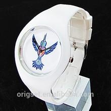 2015 new logo Custom watches promotional watch cheap watch factory