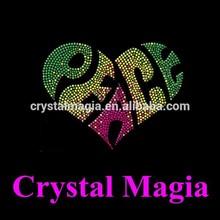 2015 rhinestone motif love heat transfer machine heat press crystal template
