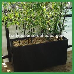 FO-278 colorful rectangular outdoor garden fiberglass flower pot