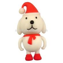 christmas dog cute design shape usb flash,logo printing pvc latest design usb