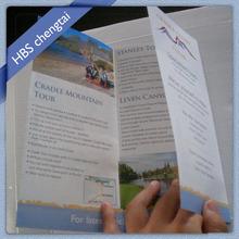 Film lamination printing tri-fold brochures designs