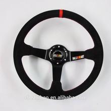 Brand New Ralliart Racing suede Steering Wheel 14 inch