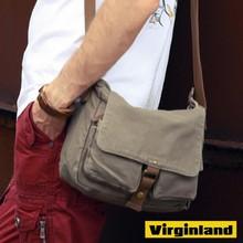 2371 Popular Item Mens Cool Green Canvas Courier Shoulder Bag Messenger Bag for School
