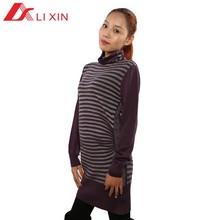 Ladies fashion korean wool sweater dress