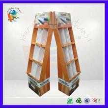 8 shelf cardboard floor display unit ,8 cells advertising display rack ,8 cells retail cardboard stand