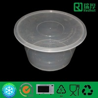 Plastic food container restaurant use take away plastic tableware 3500ml
