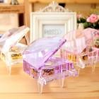 Engraving crystal piano music box for wedding souvenirs