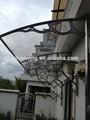 económico al aire libre de policarbonato diy diy canopy150x300cm puerta
