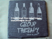 Contemporary best-Selling home decoration slate coaster