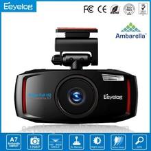 Oem Customiized 1296 p 2.7 pulgadas LCD 1080 p coche negro caja de la cámara del coche