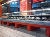 OEM Supermarket cooled food fridge cabinet, Deli showcase