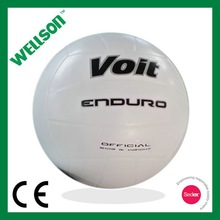 Branded white rubber volleyball balls