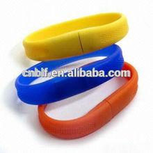 Best wholesale price usb flash drive 500gb cheap novelty promotional portable silicone usb bracelet