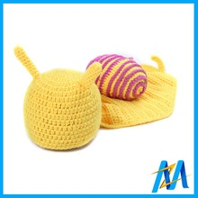 Cute Snail Design Knit Child Hat Baby Winter Hat Crochet Knitting Beanie Newborn Props Knitted Hat