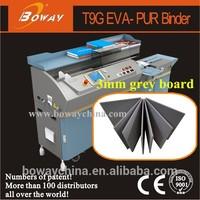 China 1st 3mm grey board 2 in 1 EVA PUR bind book making machines