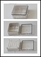 TIBOX Waterproof Instrument Box 140*190*70mm poly carbonate Weatherproof Din Rail Plastic Enclosure