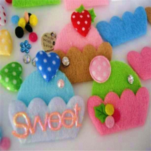 80 DIY Felt Cupcake, Applique, Craft, Trim, Cup Cake, Bow With Pink, Green, Blue, White