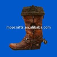 Resin/Polyresin shoes for garden birdhouse gifts