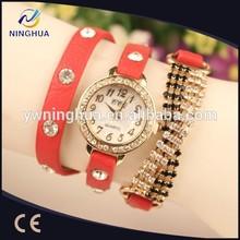 New Design Quartz Dress Leather Lady Watch