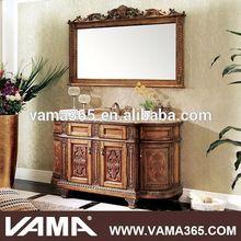 VAMA Wholesale Bathroom Cabinet Oak Wood German Antique Furniture