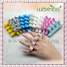 2015 New WAXKISS Coloful Sponge Toe separators beauty toe art for personal care