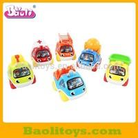 Pull back cartoon Fire Engine set toys