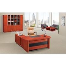 Walnut high gloss office table office reception desk IA122
