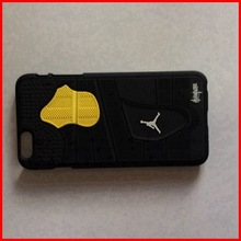 3d rubber durable Jordan 4 black version mobile phone cases wholesale